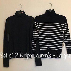 Set of 2 Women's Large Ralph Lauren Turtlenecks